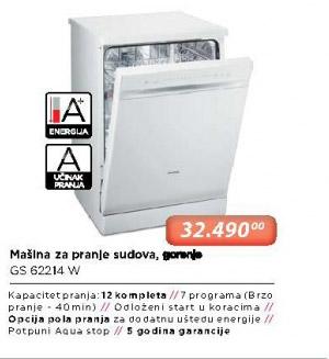 Mašina Za Pranje Posuđa GS 62214 W