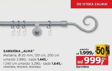 Garnišna Alma 240cm