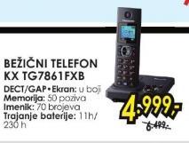 Bežični telefon Kx Tg7861fxb