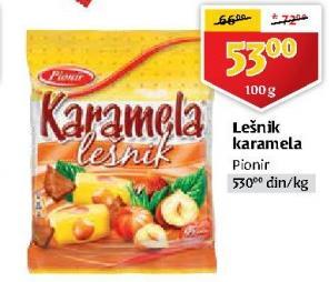 Bombone karamela lešnik