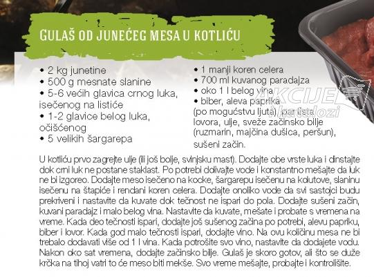 Recept - Gulaš od junećeg mesa u kotliću