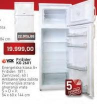 Frižider KG 2601