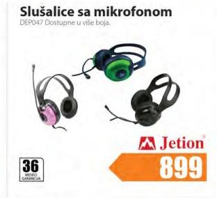 Slušalice sa mikrofonom DEPO47 Jetion