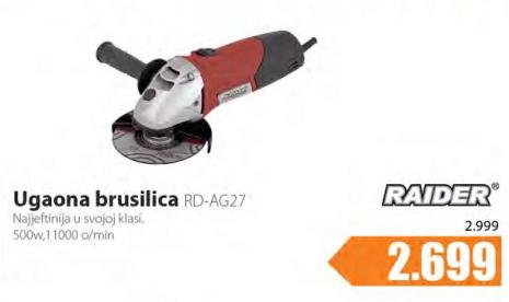 Ugaona  brusilica RD-AG27 Raider