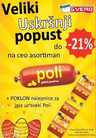 Do 21% popusta na Poli asortiman