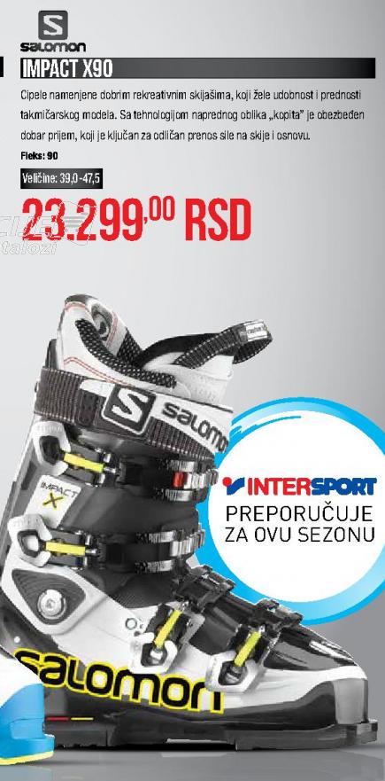 Skijaške cipele IMPACT X90, SALOMON