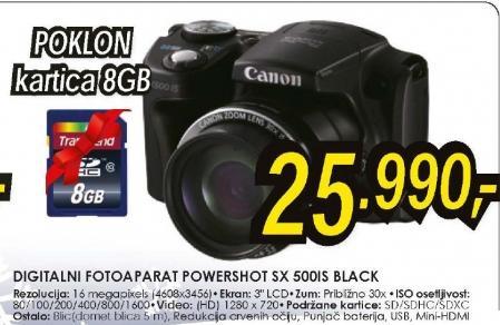 Digitalni fotoaparat PowerShot SX 500IS BLACK
