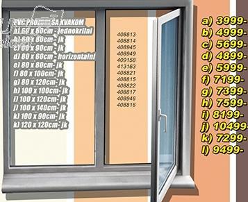 Prozor PVC sa kvakom 80x100 jk