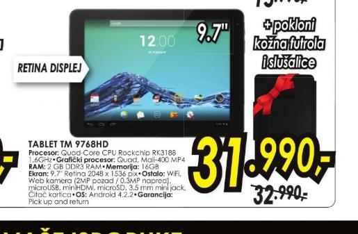 Tablet TM-9768HD