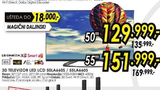 Televizor LED LCD 50LA660S