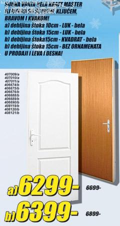 Sobna vrata Kraft Master Bela
