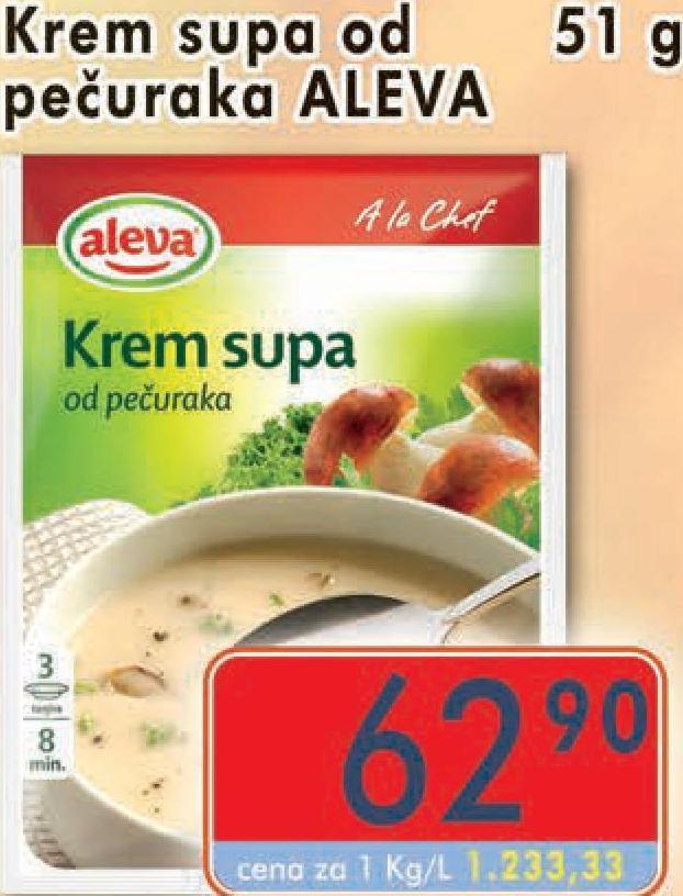 Supa krem pečurke