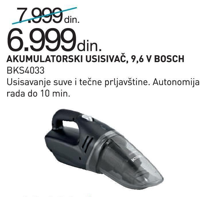 Usisivač akumulatorski BKS 4033