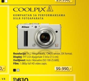 Fotoaparat digitalni Coolpix A