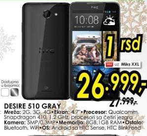 Mobilni telefon Desire 510 Gray