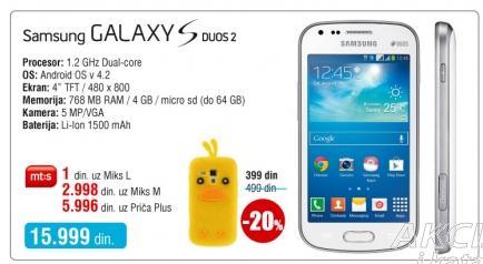 Mobilni telefon Galaxy S Duos 2