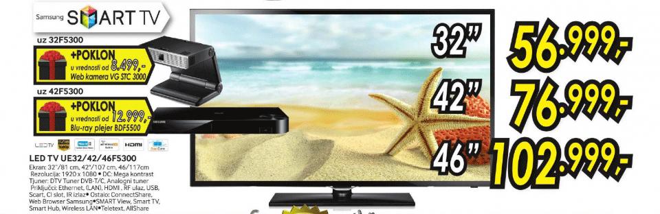 LED LCD TV UE-42F5300 + 3D PLEJER