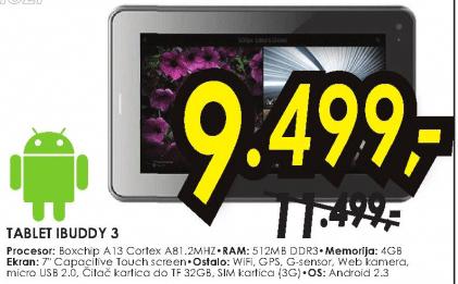 Tablet IBUDDY 3