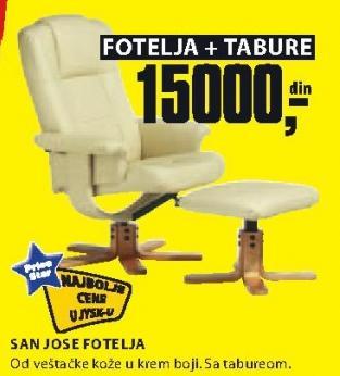 Fotelja San Dijego sa tabureom