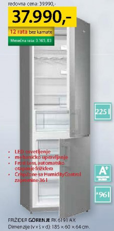 Kombinovani frižider RK 6191 AX