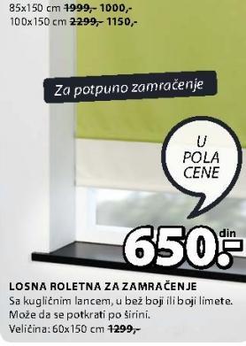 Roletna 85x150 cm