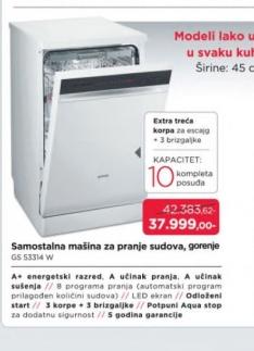 Samostalna Mašina Za Pranje Sudova, Gs 53314W