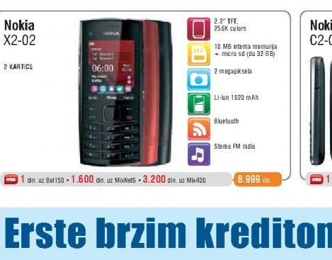 Mobilni Telefon  X2-02 Dual SIM