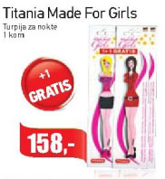 Turpija za nokte Made for girls