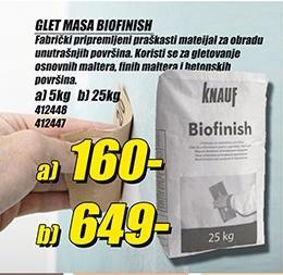 Glet masa Biofinish 25kg
