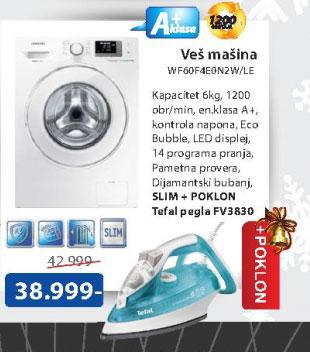 Mašina za veš WF60F4E0N2W+poklon Pegla Tefal FV 3830