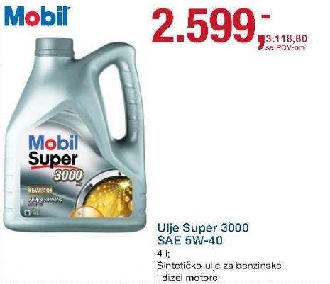 Ulje Super 3000 Sae 5w-40 Mobil