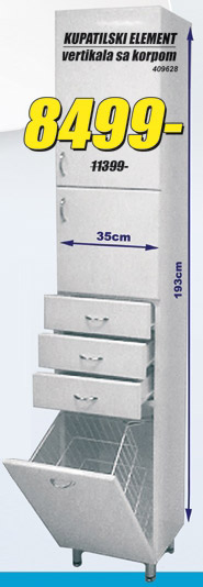 Kupatilski element vertikala sa korpom
