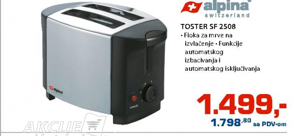 Outlet - Toster Alpina SF2508