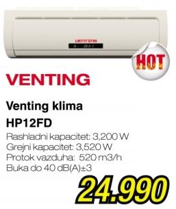 Klima uređaj Hp12fd Venting