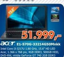 Laptop E1-570G-33214G50Mnkk