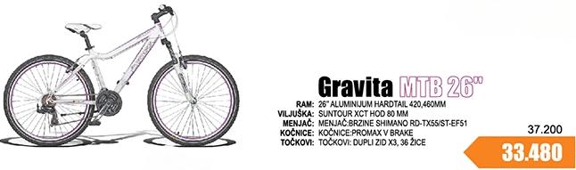 "Bicikl MTB 26"" Gravita"