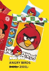 Posteljina Angry Birds