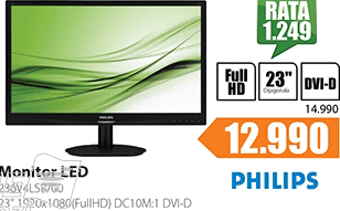 "Monitor 23"" 236V4LSB/00 LED"