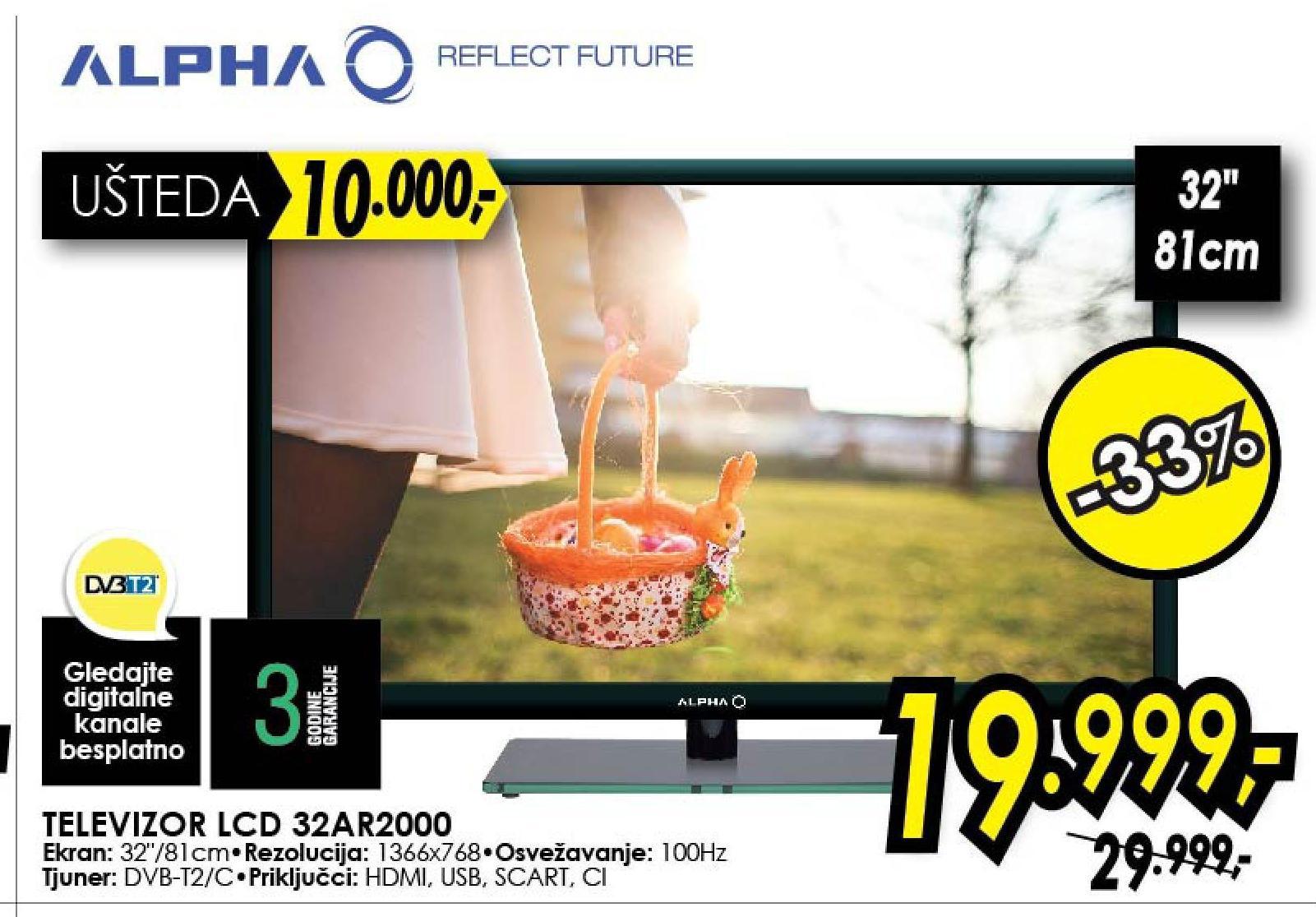 "Televizor LED 32"" 32AR2000"