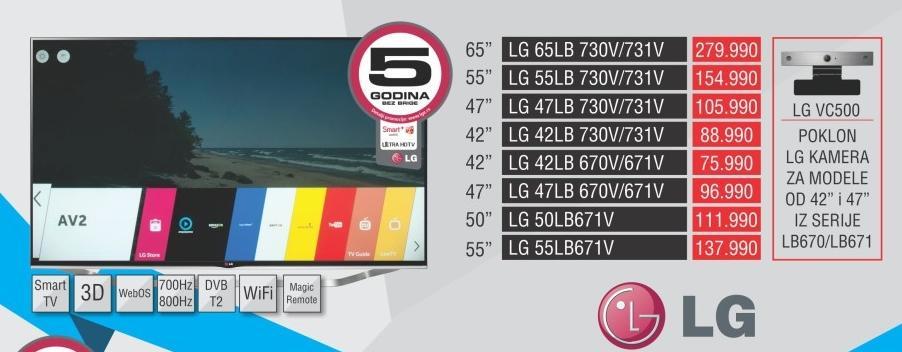 """Televizor LED 55"""" 3D 55lb731v"""