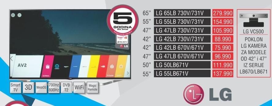 """Televizor LED 55"""" 3D 55lb671v"""