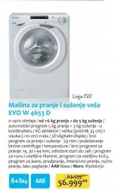Mašina za pranje i sušenje  veša EVO W 4653 D