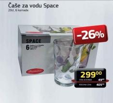 Čaše za vodu Space