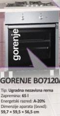 Ugradna Rerna BO7120AX