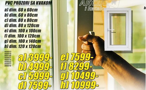 Prozor PVC sa kvakom 60x120cm