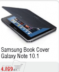 Book Cover Galaxy Note 10.1