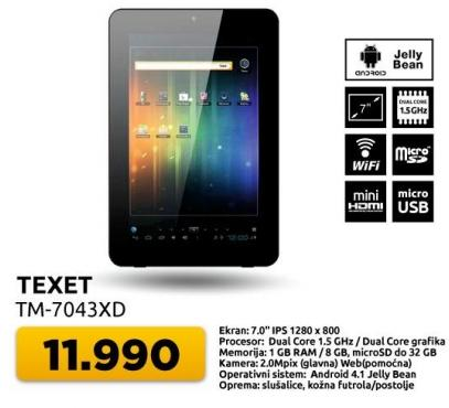 Tablet Texet TM-7043XD