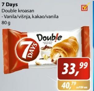 Kroasan Double kakao i vanila