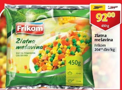 Smrznuto povrće zlatna mešavina