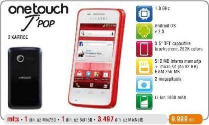 Mobilni telefon One Touch T Pop